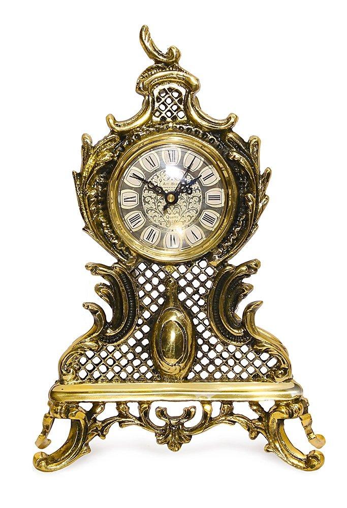 Mosiężny zegar kominkowy STYLOWY antyczny