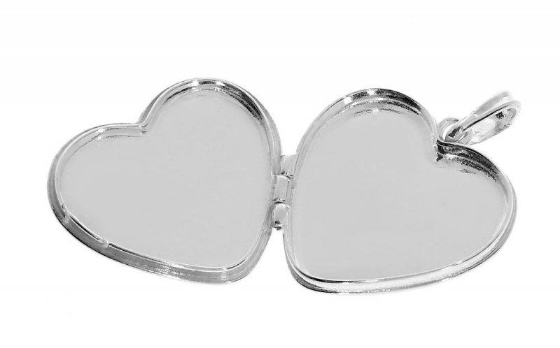 Srebrny sekretnik zawieszka 925 serce z GRAWEREM