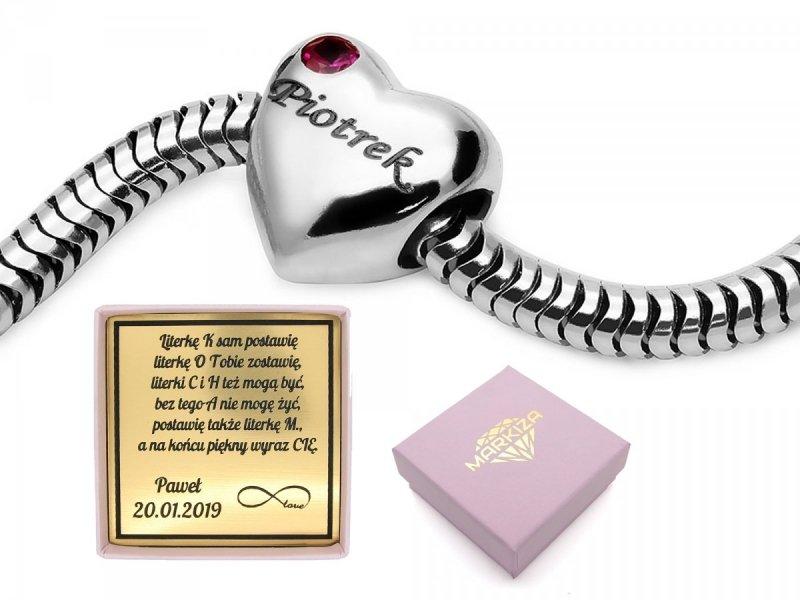 Charms Bead do Pandora z grawerem