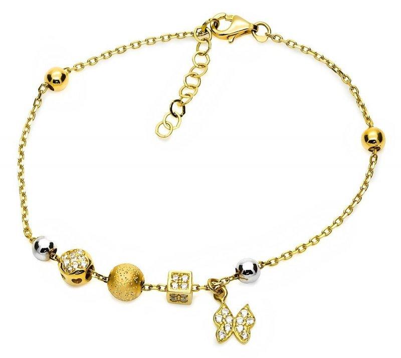 Bransoletka złota 585 motylek