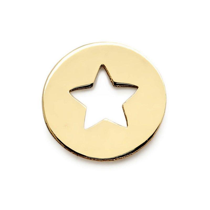 Złota zawieszka 585 wycięta gwiazdka do celebrytki | kółeczko
