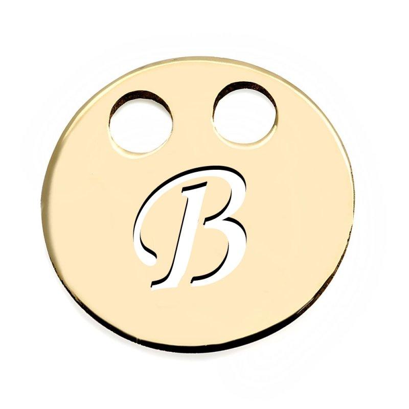 Złota zawieszka 585 kółeczko z literką B do celebrytki