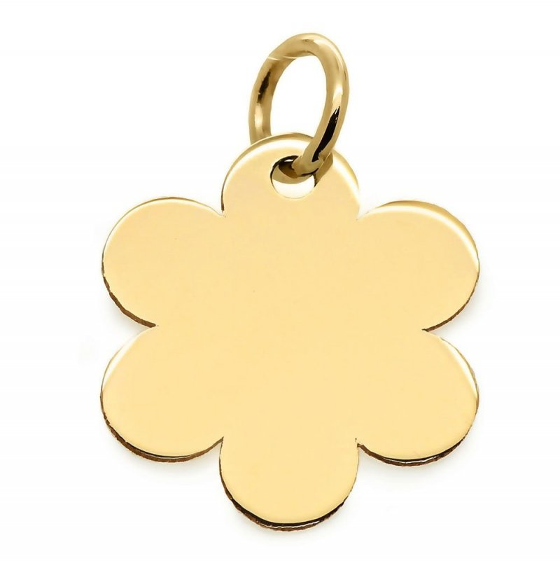 Złota zawieszka 585 kwiatek