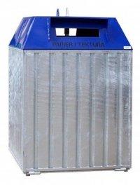 Metalowy pojemnik do segregacji Typ DZWON PD-D 2500L ( papier )