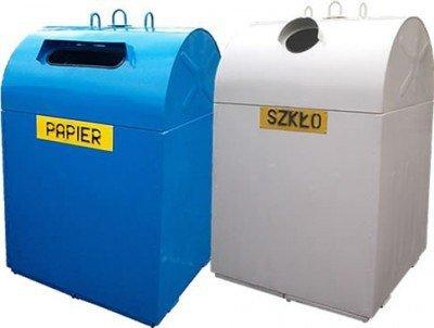 Metalowy pojemnik do segregacji Typ DZWON PD-O