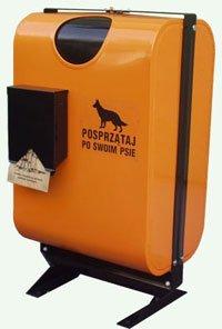 Kosz na psie nieczystości SZARYK z podajnikiem na torebki