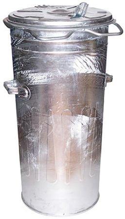 Metalowy kosz SM 80 litrów ( bez kół ) - ocynkowane ogniowo