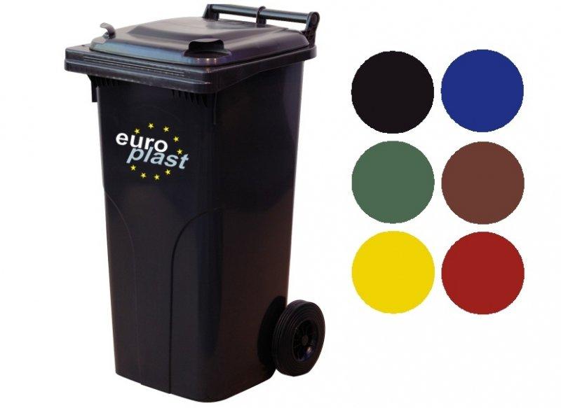 Pojemnik na odpady MGB 120l EUROPLAST Czerwony