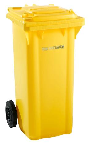 Pojemnik na odpady z tworzywa 120 l SSi-Schaefer - BIO Brąz
