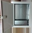 Skrzynka mieszkaniowa CATV p/t 350x250x90mm drzwi metal. białe