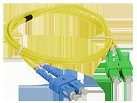 Patch cord SC/APC-SC/UPC duplex SM 3.0m