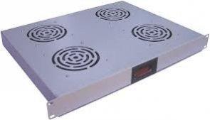 Wentylator 19&#34 1U 4 wiatrakowy z termostatem szary