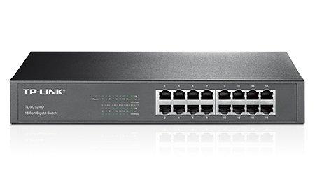 Switch 16 portów Gb, z możliwością montażu w szafie TL-SG1016D