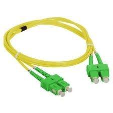 Patch cord SC/APC-SC/APC duplex SM 1m