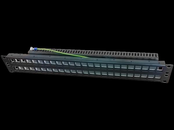 """Patch panel 19"""" modularny 48 portów 1.5U niewyposażony"""