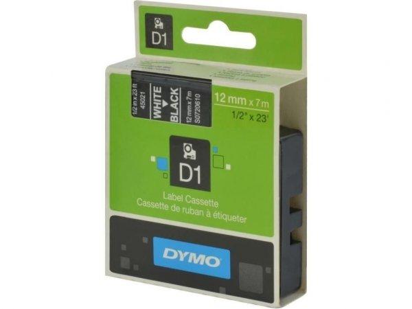 Taśma DYMO D1 12mm x 7m biały/ czarny