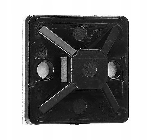 Uchwyt opaski zaciskowej 20x20mm czarny 100szt.