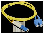 Patch cord LC/UPC-SC/UPC duplex SM 3m
