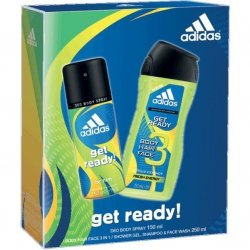 Adidas Get Ready! for Him Deo Body Spray 150 ml + Body Hair Face 3in1 250 ml