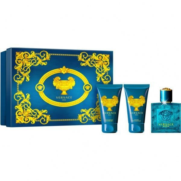 Zestaw Versace Eros EdT 50 ml + After Shave Blam 50 ml + Shower Gel 50 ml