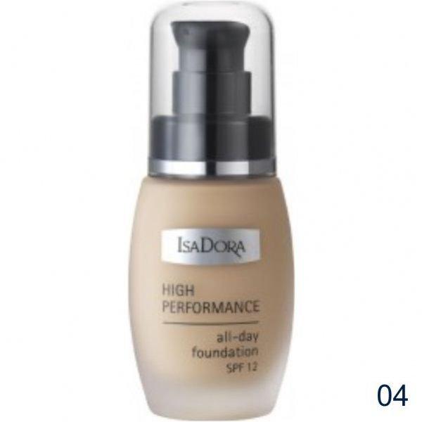 IsaDora High Performance All-Day Foundation SPF 12 podkład wygładzający 30 ml