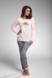 Piżama damska Cornette 160/168 bedtime story różowy