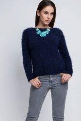 Sweter MKM Monique SWE 058 granatowy