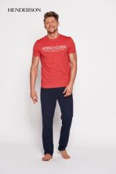 Piżama męska Henderson PJ028 35398-33x Czerwono-granatowa