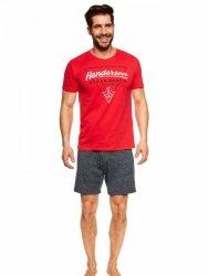 Piżama męska Henderson Jump 36824-33X Czerwono-granatowa