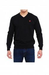 Sweter V-Logo czarny Pierre Cardin WYSYŁKA 24H