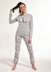 Piżama dziewczęca Cornette F&Y 274/35 Black Cat dł/r 158-176