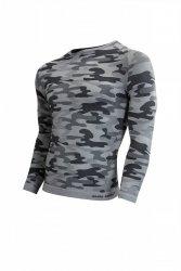 Koszulka męska Thermo Active Military Style długi rękaw popiel Sesto Senso WYSYŁKA 24H