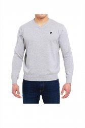 Sweter V-Logo szary Pierre Cardin WYSYŁKA 24H