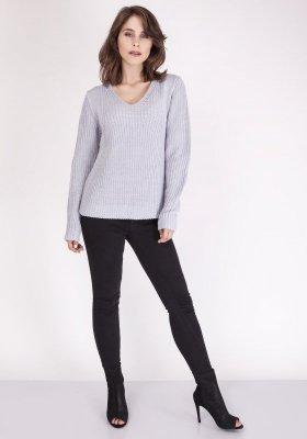 Sweter MKM Victoria SWE 123 Jasny szary