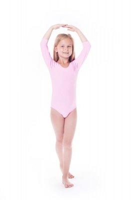 Body gimnastyczne lycra (B15) rękaw 3/4 Shepa