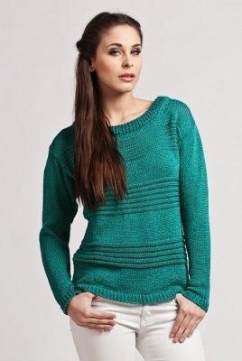 Sweter damski MKM Tatiana zielony