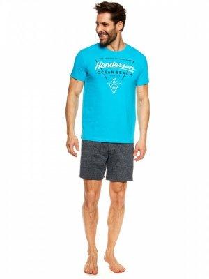 Piżama męska Henderson Jump 36824-55X Niebiesko-granatowa