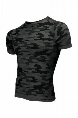 Koszulka męska Thermo Active Military Style krótki rękaw grafit Sesto Senso