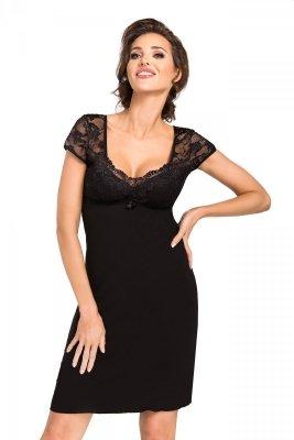 Koszula nocna Brigitte czarna Donna