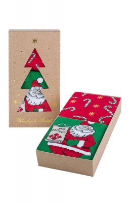 Skarpety damskie Bratex Świąteczne Pudełko 5874 A'2