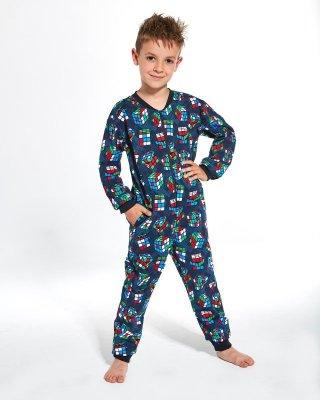 Piżama chłopięca Kombinezon Cornette Kids Boy 185/108 Cubes dł/r 86-128