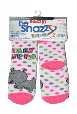 Skarpetki dziewczęce By Snazzy SKF-03 Raczki Frotte Girl