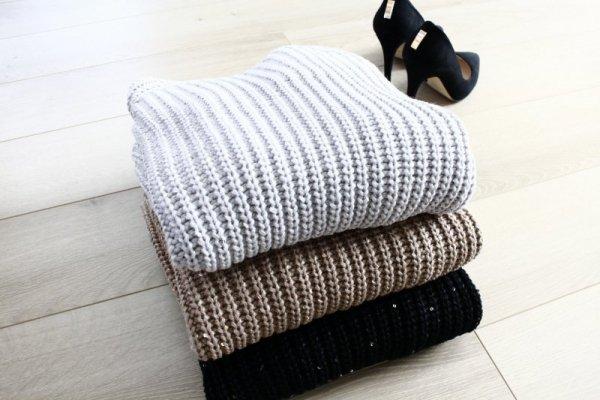 Sweter MKMSwetry Kriss SWE 076 czarny