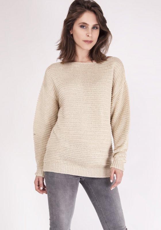 Sweter MKM Beatrix SWE 097 Beżowy
