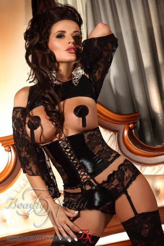 Komplet Priscilla black Beauty Night