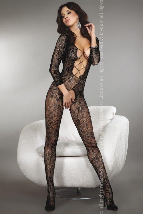 Bodystocking Zita black Livia Corsetti