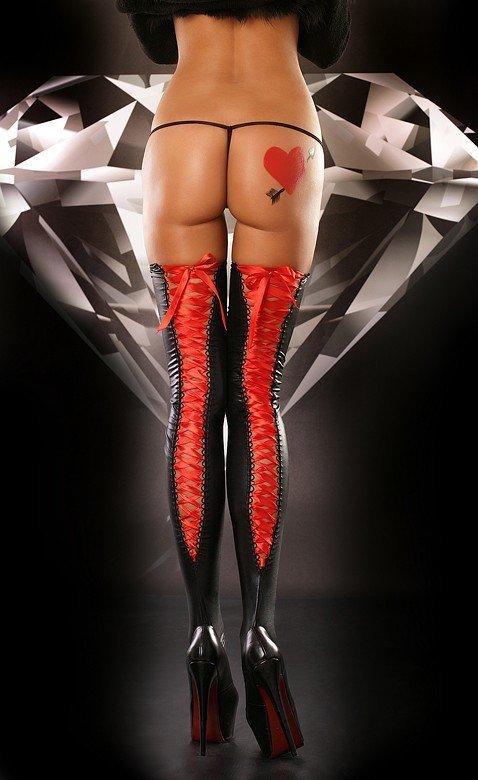 Pończochy Lacing Stocking red Lolitta