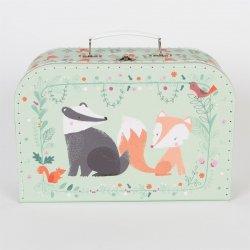 Sassandbell, walizeczka leśni przyjaciele, duża, z liskiem i borsuczkiem