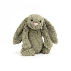 Jellycat, królik Bashful Dusky Blue 18cm