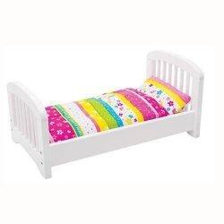 Goki, drewniane łóżeczko z pościelą